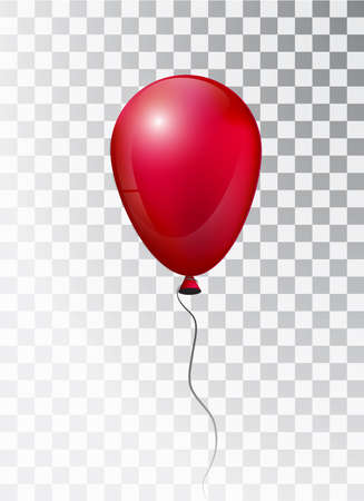 Balloon white on transparent background. Pearl frosted. Balloon. Vector elements for your design. Map. Red balloon in the air. 3d.