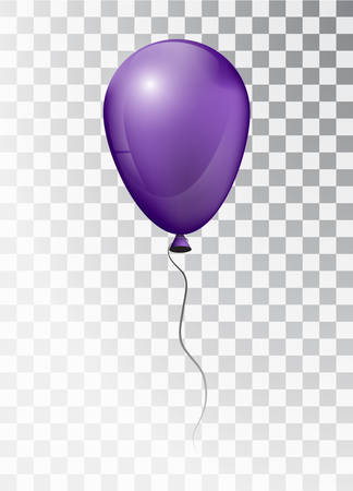 Balloon white on transparent background. Pearl frosted. Balloon. Vector elements for your design. Map.  3d.