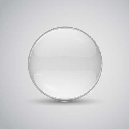 Glazen lens vector illustratie. Transparant vlak glas Stock Illustratie