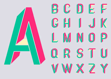 3d alphabet Illustration
