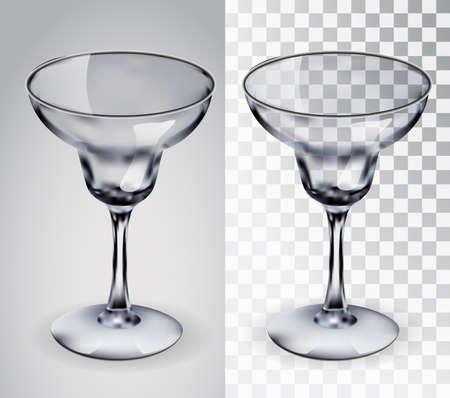 detox: Glass for margaritas. Illustration