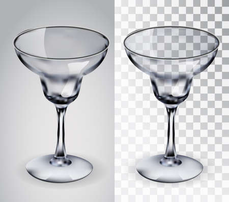 Glass for margaritas. Illustration