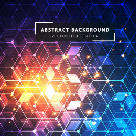electric grid: Abstract hexagon vector background.