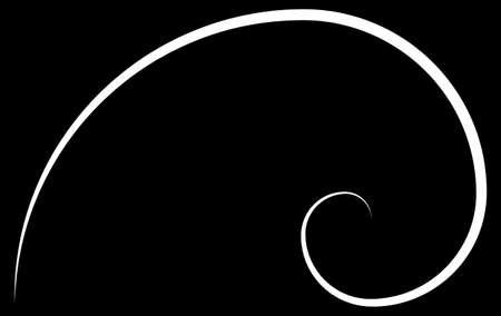 黄金比の螺旋のイラスト
