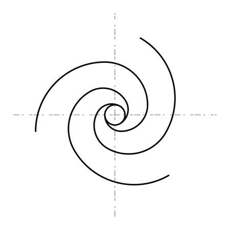 Minimalistic style design  Golden ratio Geometric shapes. Vector illustration. Illusztráció