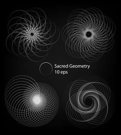 Circle rotation patterns. Abstract shapes