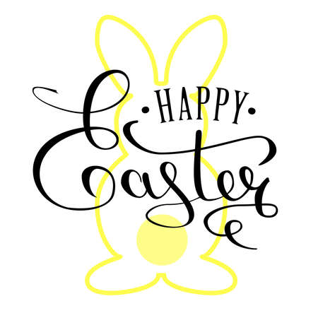 Happy Easter Day design template for cards, banners, posters Illustration