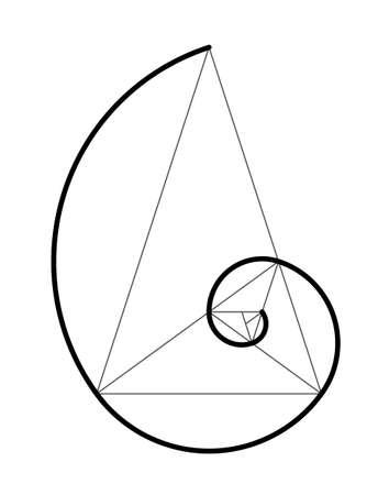Golden ratio. Cover template design vector  illustration.