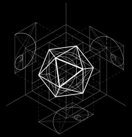 Geometric abstract image on a black background
