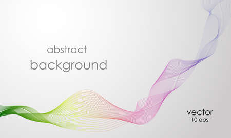 Vector abstract rainbow line. Vector smoke. Curved lines Illustration