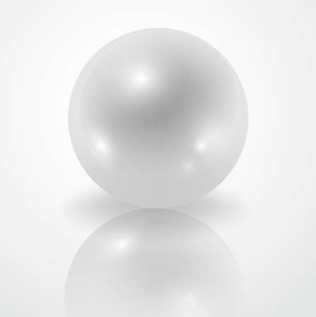 White Pearl isolated on white backdrop  decoration.