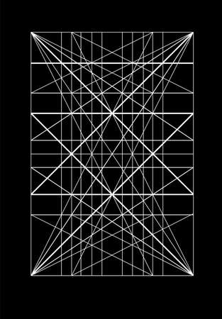 Cover template. armonious measure to the human scale universally applicable to architecture and mechanics. Scalable vector illustration.