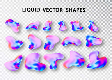 Fluid shape layout isolated template. Fluid gradient elements. Colorful abstract shapes. Futuristic trendy dynamic elements. Liquid gradient elements for minimal banner, logo, social post.