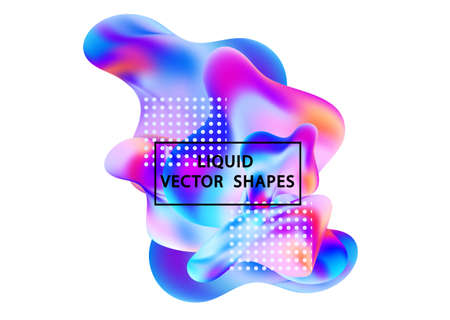 Fluid shape layout isolated template set. Template for the design of a logo, flyer or presentation. Fluid gradient elements. Colorful abstract shapes Liquid gradient elements Stock Vector - 117796623