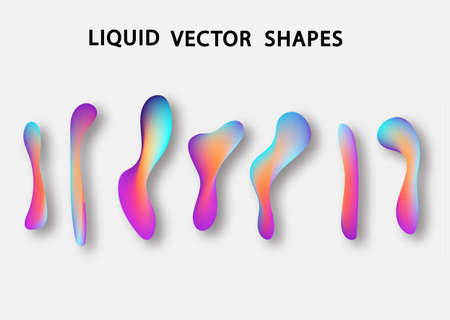 Fluid shape layout isolated template set. Colorful abstract shapes. Futuristic trendy dynamic elements. Liquid gradient elements for minimal banner, logo, social post. Vector illustration. Stock Vector - 117796629