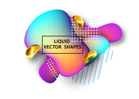 Fluid shape layout isolated template set. Template for the design of a logo, flyer or presentation. Fluid gradient elements. Colorful abstract shapes Liquid gradient elements Stock Vector - 117796633
