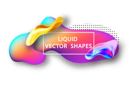 Fluid shape layout isolated template set. Template for the design of a logo, flyer or presentation. Fluid gradient elements. Colorful abstract shapes Liquid gradient elements Stock Vector - 117796636