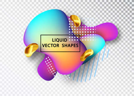 Fluid shape layout isolated template set. Template for the design of a logo, flyer or presentation. Fluid gradient elements. Colorful abstract shapes Liquid gradient elements Stock Vector - 117805956