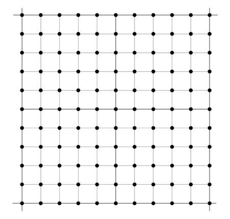 Measured grid. Graph plotting grid. Corner ruler with measurement isolated on the white background. Vector graph paper template background Vektoros illusztráció
