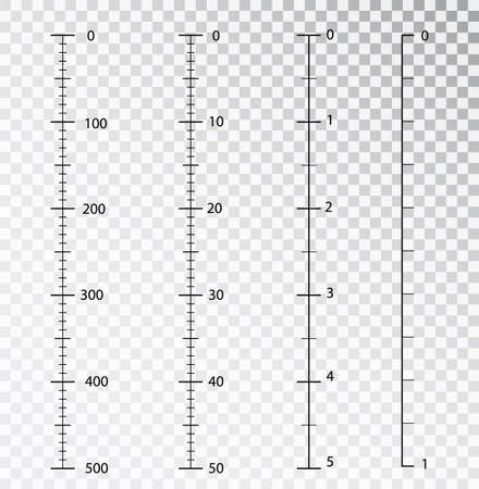 Rulers vector. Measuring tool. Centimeters and inches measuring scale cm metrics indicator. Scale for a ruler in inches and centimeters. Measuring scales. Stock Vector - 117805959