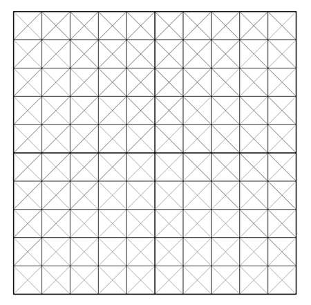 Measured grid. Graph plotting grid. Corner ruler with measurement isolated on the white background. Vector graph paper template background