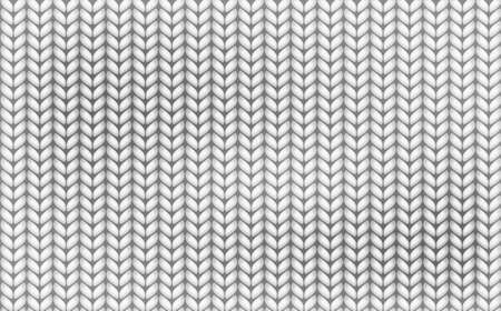 Knitting realistic texture seamless pattern. White and gray realistic knit texture seamless pattern. knitted background. Vector seamless background.