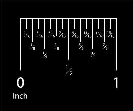 Reglas de pulgadas. Indicador de escala de medición de pulgadas. Herramientas de icono de centímetro de medición de precisión de herramientas de regla de indicación de tamaño de medida. Vector aislado