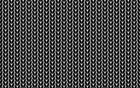 Knitting vector pattern. Vector texture seamless pattern. Black knit texture seamless pattern. Vector seamless background.