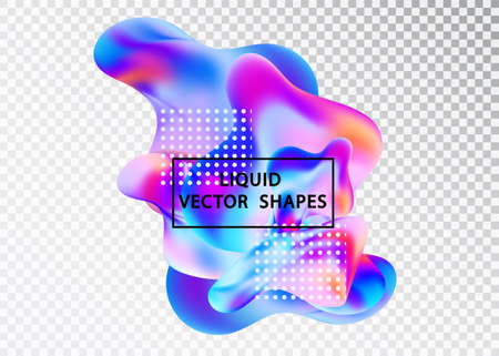 Fluid shape layout isolated template set. Template for the design , flyer or presentation. Fluid gradient elements. Colorful abstract shapes Liquid gradient elements Illustration