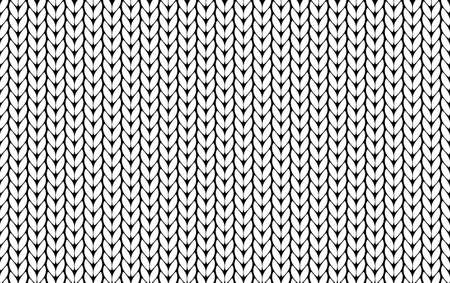 Knitting vector pattern. Vector texture seamless pattern. White knit texture seamless pattern. Vector seamless background.