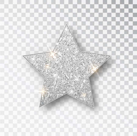 Gold glitter vector star. Golden sparkle luxury design element. Vector particles. Stok Fotoğraf - 128800828