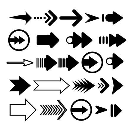 Arrow icon. Set vector flat arrows. Collection of concept arrows for web design, mobile apps, interface and more