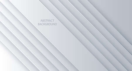 White vector background abstract lines. Design geometrical white texture. Abstract 3d background with white paper layers.