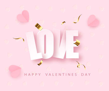 love greeting card design fo Valentine s day. Happy Valentines Day. Vector illustration Vectores