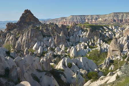 Wonderful landscape of Cappadocia in Turkey near Gereme Standard-Bild - 114618880
