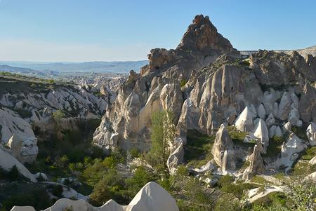 Wonderful landscape of Cappadocia in Turkey near Gereme Standard-Bild - 114618886