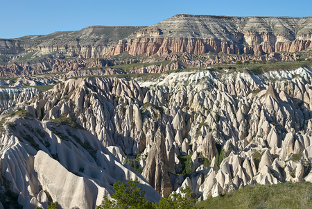 Red and Rose valley. Cappadocia Turkey Standard-Bild - 114618889