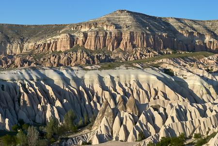 Colorful Rose valley canyon in Cappadocia landscape Standard-Bild - 114618892