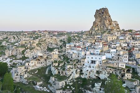 Cappadocia, Turkey: Ortahisar City in Cappadocia, Turkey on sunset Standard-Bild - 114618601