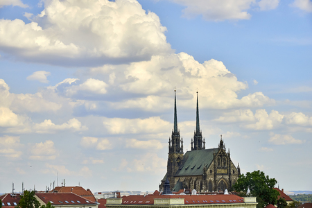 Cathedral of Peter and Paul at sunny day view from Spilberk castle Banque d'images - 122963865