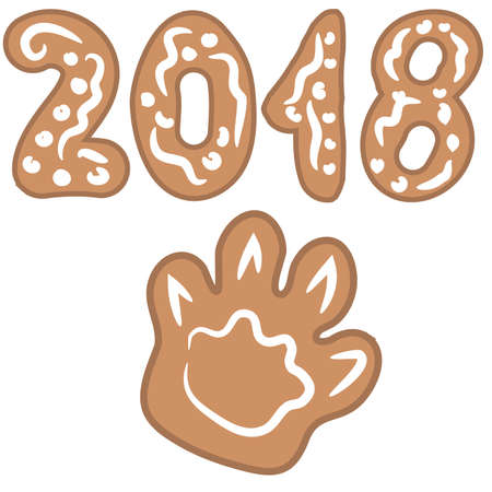set of gingerbread and cookies for the new year and Christmas. Vector illustration isolated on white background