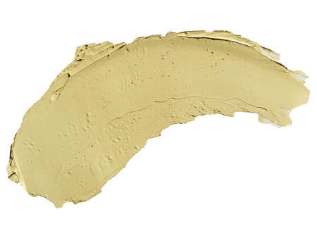 Cosmetic concealer smear strokes isolated on white background, tone cream smudged Corrector texture. Make Up.