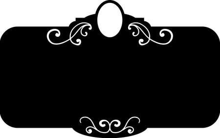 Black square vintage frames, design elements. Sketch hand drawn. Decorative border. Vector illustration isolated bacjground Banque d'images - 125977153