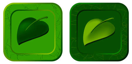 Vector icon with casual leaf for video game on white dackground