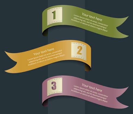 Set of ribbons Illustration