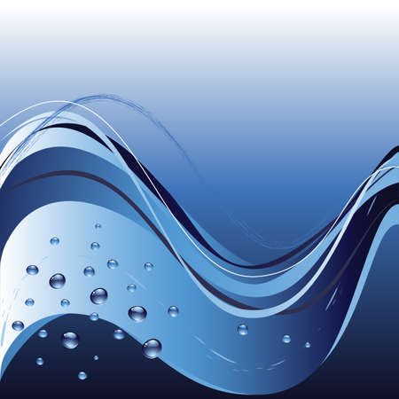 Background with lines and drops in blue