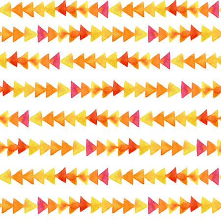 overflow: Seamless background with colorful watercolor triangles. Vector watercolor geometric elements. Watercolor design.