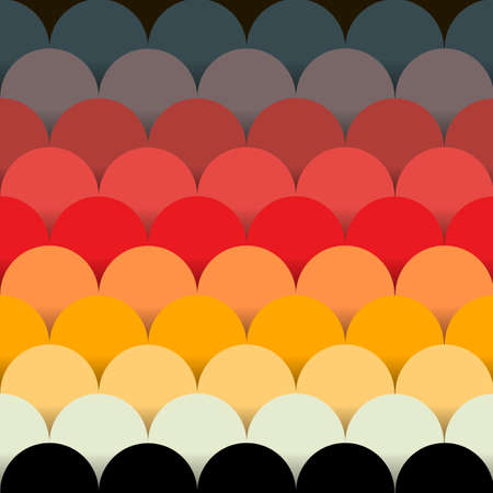 amarillo y negro: Seamless abstract background. Semicircles, volume and a beautiful color gradient. Pattern in scrap-booking style. Look like a paper card