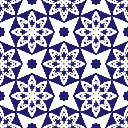Seamless background with round elements. Oriental ornaments. Perfect for manufacture wrapping paper, tiles, decor, textile, interior or web design.