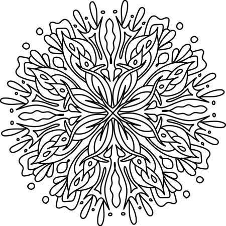 mandala: Mandala with floral elements